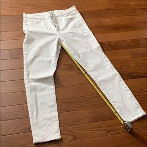 Loft White Ankle Jeans